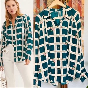 Free People Window To My Heart Green Top L